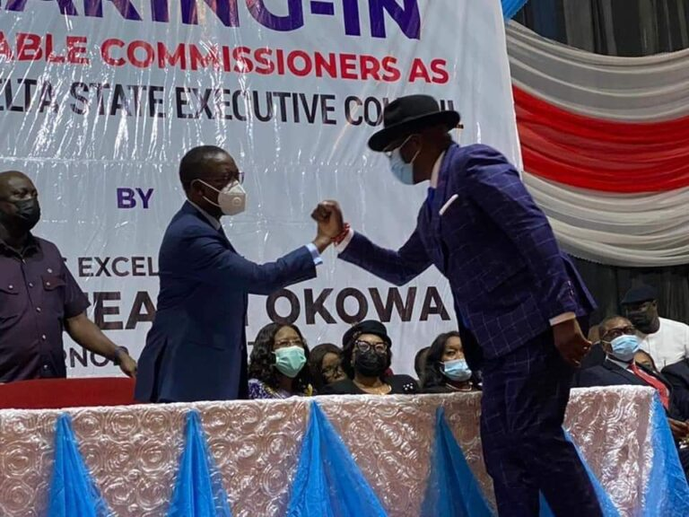 Governor Okowa swears in Amgbaduba, 10 others as commissioners